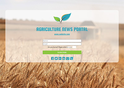 Agriculture News Portal Template