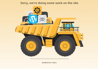 Dump Truck at Work Template
