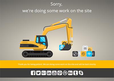 Excavator at Work - C Template