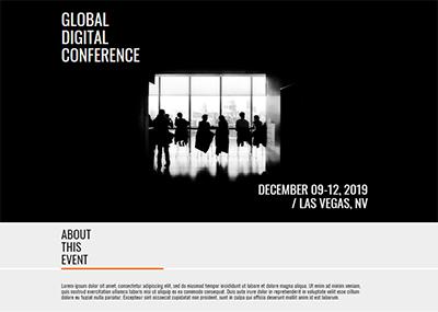 Global Digital Conference Template