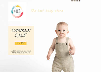 Kids Store Template