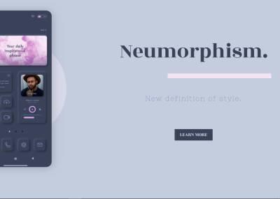 Neumorphism Style Template