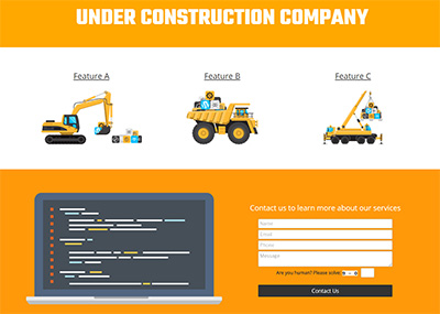 One Page Company - C Template