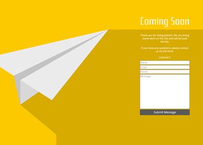 Paper Plane Template