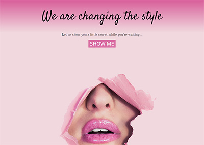 Pink Lips Template