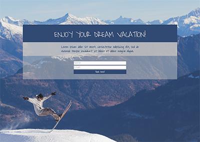 Skiing Template