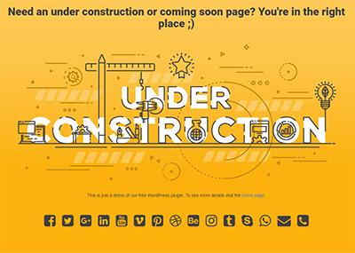 Under Construction Text Template