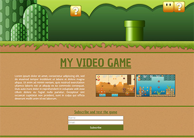 Video Game Landing Page Template