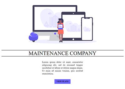 Web Maintenance Company Template